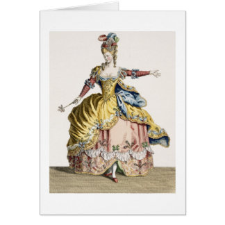 Costume for the Queen of the Sylphs in the Ballet Greeting Card