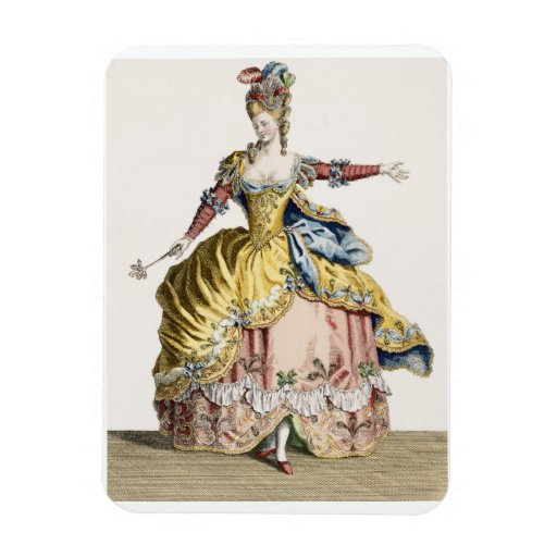 Costume for the Queen of the Sylphs in the Ballet Rectangular Photo Magnet