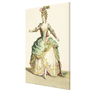 Costume for Venus in several operas engraved by t Stretched Canvas Prints
