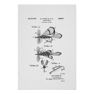 costume jewelry patent / dry fishing fly poster