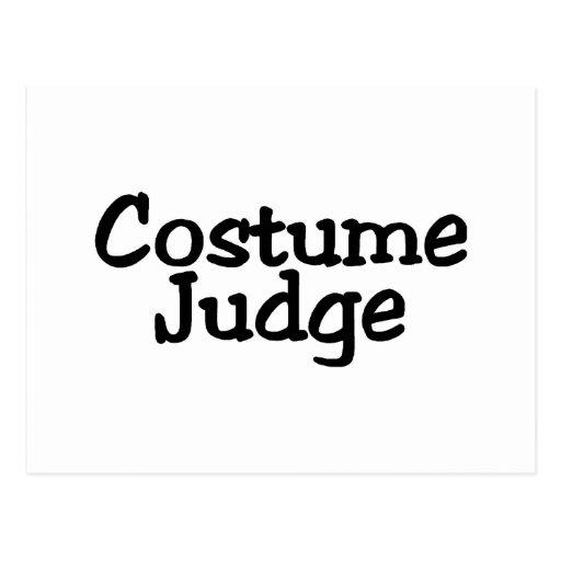 Costume Judge Postcard