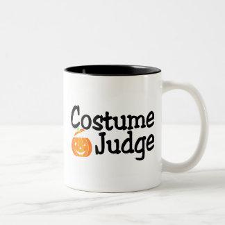 Costume Judge Pumpkin Two-Tone Coffee Mug