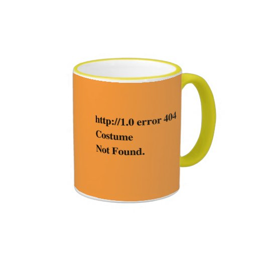 COSTUME NOT FOUND.png Ringer Coffee Mug