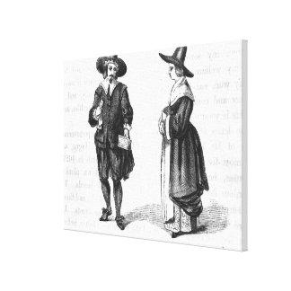 Costume of the Pilgrims Canvas Print