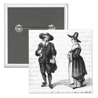 Costume of the Pilgrims Pinback Button
