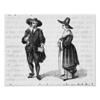 Costume of the Pilgrims Poster