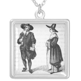 Costume of the Pilgrims Silver Plated Necklace
