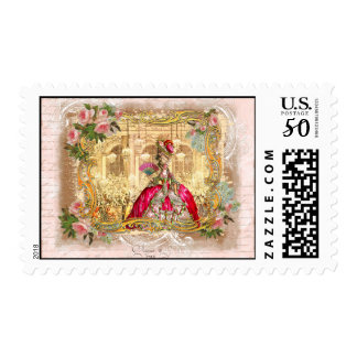 Costume Party Frency Style Postage Stamps
