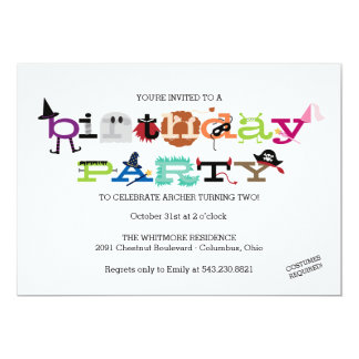 Costume Party Invite for Kid's Birthday Party