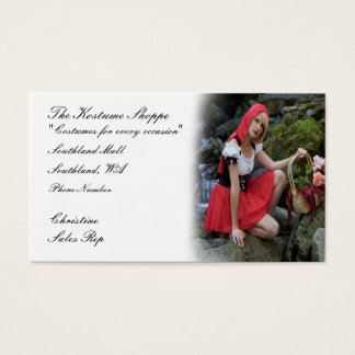 Costume shop business card