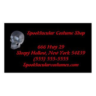 Costume shop business cards
