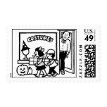 Costume Shop Postage Hallowen Stamp by ASM