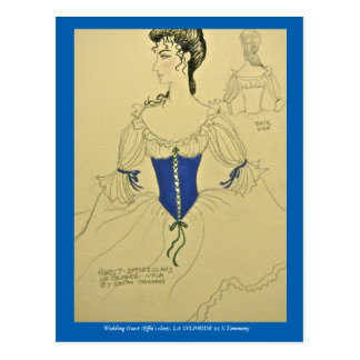 Costume sketch for LA SYLPHIDE ballet Postcard