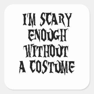 costume square sticker