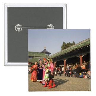 Costumed amateur folk dancers entertain pinback button