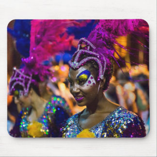 Costumed Attractive Dancer Woman at Carnival Parad Mouse Pad
