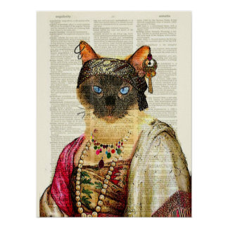 COSTUMED CAT ART POSTER/ARTPRINT POSTER