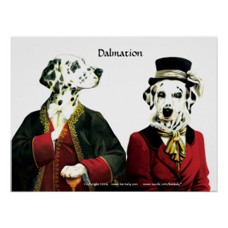 Costumed dalmation couple poster