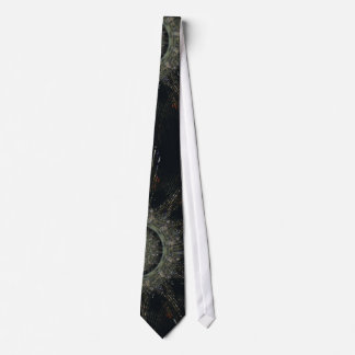 Costumed Tailored Tie with Black Design