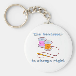 Costumer is Always Right Thread Needle Keychain