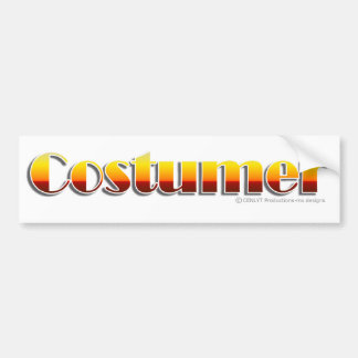Costumer (Text Only) Bumper Stickers