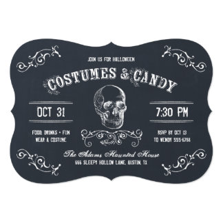 Costumes and Candy Halloween Party Invitation