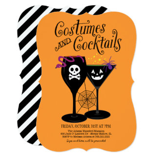 Costumes and Cocktails | Halloween Party Card