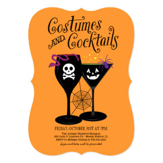Costumes and Cocktails | Halloween Party Announcements