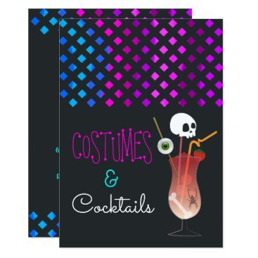 Halloween Themed Costumes and Cocktails Halloween Party Invitation