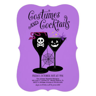 Costumes and Cocktails | Halloween Party Custom Invitation