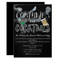 Costumes & Cocktails Halloween Party Invitations