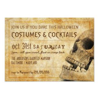 Costumes & Cocktails Halloween Skull 5x7 Paper Invitation Card