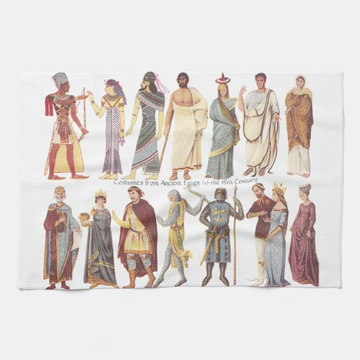Costumes From Ancient Egypt To The 15th Century Hand