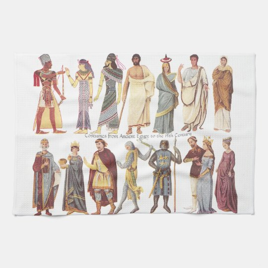Costumes from Ancient Egypt to the 15th Century Kitchen Towels
