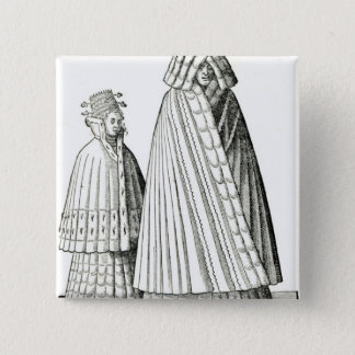 Costumes of a Livonian noblewoman Pinback Button