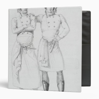 Costumes of cooks from different eras 3 ring binders