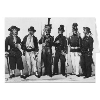Costumes of French marines from 1680 to 1854 Cards