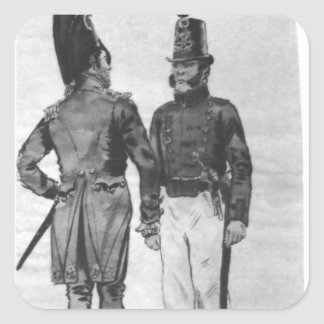Costumes of French Marines from 1804 to 1814 Square Sticker