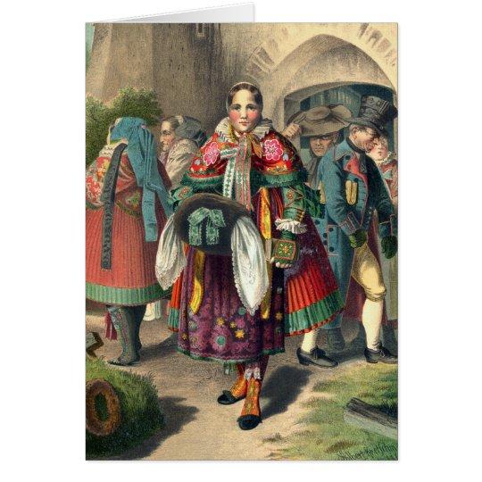 Costumes of Pomerania - Vintage Greeting Card