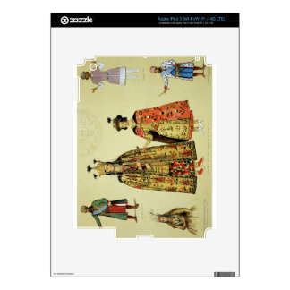 Costumes of the 17th and 18th centuries, plate 56 iPad 3 skins