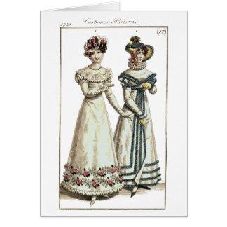 Costumes Parisiens 1821 Fashion Plate Card