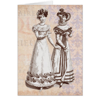Costumes Parisiens 1821 Regency French Fashions Card