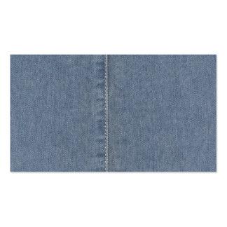 Costura azul clara del dril de algodón tarjetas de visita