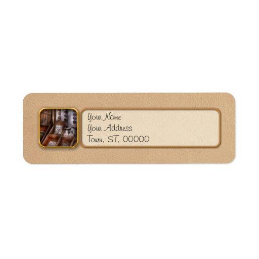 Costura - botones frescos para la venta etiqueta de remite