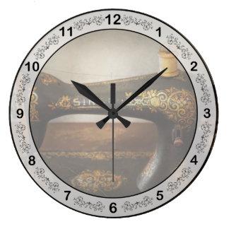 Costura - cante una canción reloj redondo grande