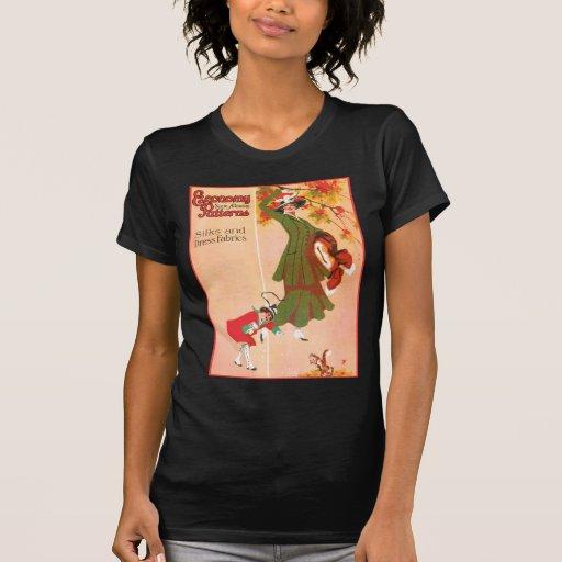 Costura de la economía permitiendo modelos camiseta