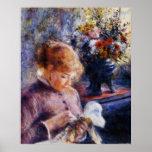 Costura de la mujer joven de Renoir Impresiones