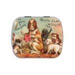 Costura de los perros frascos de caramelos