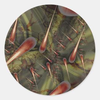 Costura del agavo pegatina redonda