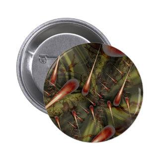 Costura del agavo pin redondo de 2 pulgadas